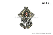 Belly Dance Ethnic Jewelry Pendant For Belts And Necklaces Barbarian Gem