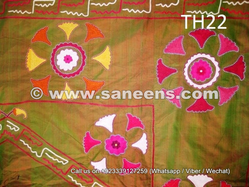 uzbek tribal style embroidered piece, kuchi women hand embroidered decoration online, afghan nomad tribal silk work