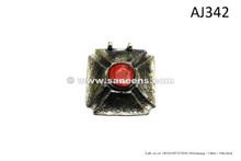 afghan kuchi handmade jewellery pendants with large coral stone inlay
