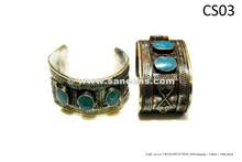 afghan kuchi handmade bracelets with turquoise