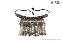 afghan kuchi tribal handmade necklaces with long chains