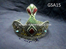 Antique Head Ornament with red Stone