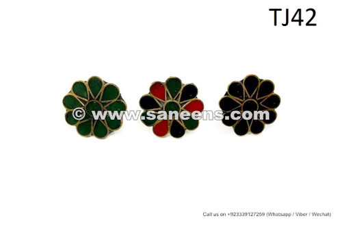 afghan kuchi flower rings
