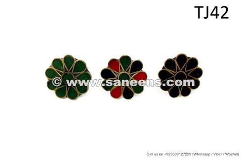 afghan kuchi flower rings