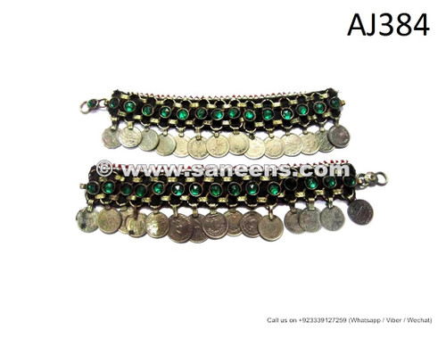 handmade kuchi afghan anklets with coins