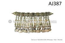 afghan kuchi tribal necklaces with coins