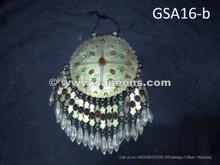 handmade afghan artwork pure silver pendant