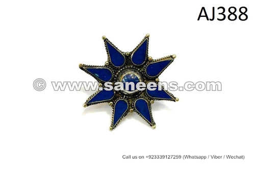 afghan kuchi ring with spikes