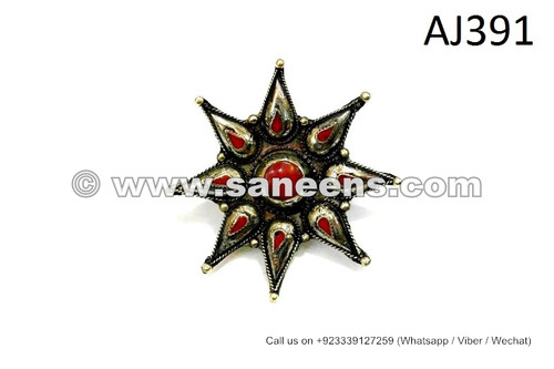 afghan kuchi rings with spikes