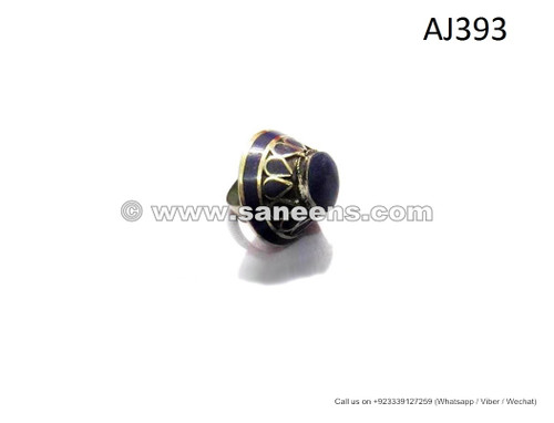 afghan kuchi tribal artwork rings