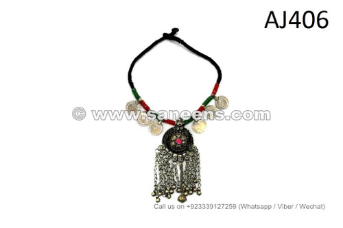 kuchi afghan necklaces with coins