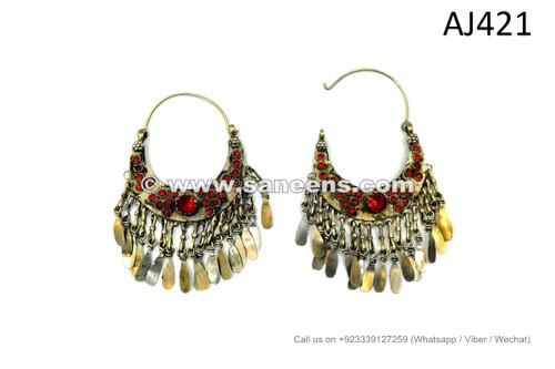 afghan kuchi earrings