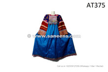 Afghan Pashtun Woman Dress Kuchi Tribal Costume Gypsy Fire Dance Frock