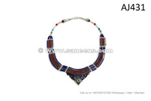 nepal tribal fashion necklace choker