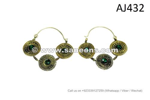 afghan kuchi jewellery earrings
