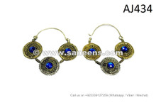 afghan kuchi tribal handmade earrings