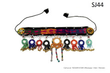 kuchi afghan handmade headdress with mirrors