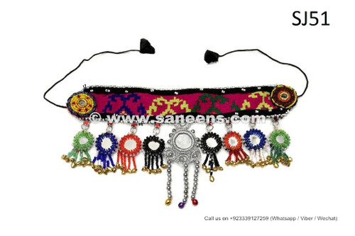 afghan kuchi handmade headdresses with mirrors