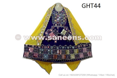 Mirror Work Afghan Dress