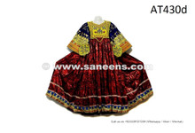 Afghan Women Long Shirt Tribal Fusion Art Work Vintage Costume Gypsy Ethnic Frock