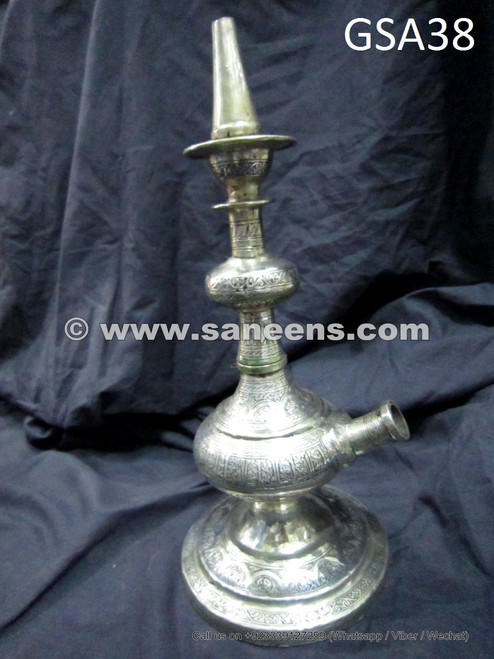 hand engraved antique afghan shisha smoking pipe