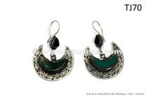 Turkmen Moon Dance Earrings ATS Bellydance Ear Brooches Gypsy Fusion Earrings