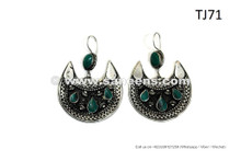 Cairo Egyptian Bellydance Earrings Traditional Turkmen Tribal Jewelry Earrings Pair