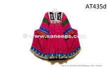 Gypsy Coin Dress Afghan Women Vintage Frock Genuine Hand Embroidered Shirt