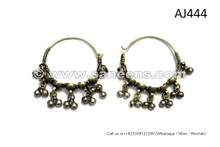 Tribal Ethnic Earrings Afghan Gypsy Women Ear Plugs Kuchi Buttons Earrings