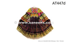 Afghan Nomad Handmade Costume Tribal Ethnic Frock Autumn Leaves Dress