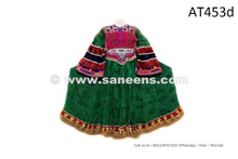 Buy Leaf Green Color Vintage Afghani Costume Kuchi Tribal Ethnic Frock Online
