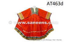 Tribal Art Embroidered Frock Afghanistan Women Ethnic Dress Kuchi Fusion Skirt