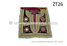 Tribal Fusion Hand Embroidered Chest Pieces Kuchi Women Vintage Chest Patches