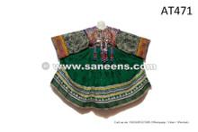 Shop Online Afghanistan Nomad Dress Kuchi Tribal Art Coin Frock In Green Color
