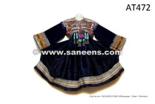Tribal Fusion Vintage Frock Afghani Ladies Embroidered Dress Gypsy Coin Costume