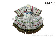 Afghan Fashion Vintage Dress Tribal Art Crinks Frock Kuchi Banjara White Costume