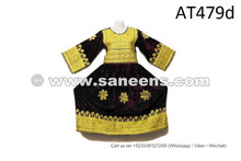 Tribal Art Dress Kuchi Handmade Vintage Costume Nomad Embroidery Work Frock