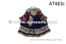 Vintage Gypsy Coins Frock With Silk Embroidery And Beads Work