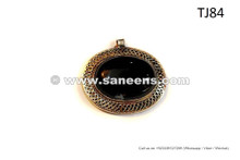 Turkmen Tribal Pendant Gypsy Fusion Pendant Kuchi Filigree Work Jewelry
