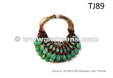 Tribal Oriental Bellydance Necklaces Wholesale Random Turquoise 10 Necklaces Lot