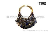 ATS Bellydance Necklaces Afghan Gypsy Fusion Random 10 Necklaces Lot
