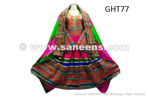 Afghan Embroidery Patch Dress