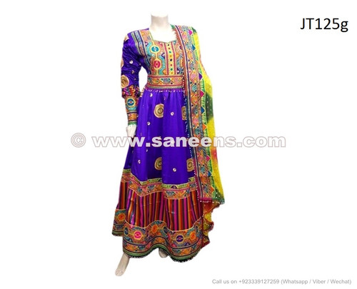 afghan fashion dress in blue color