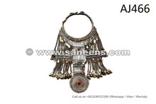 Jingle Neck Armour Bejewelled Neck Armour Tribal Armour Neck Piece