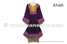 Afghan Wedding Frock Traditional Kuchi Bridal Clothes Gypsy Violet Costume