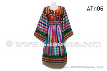 Beautiful Afghan Women Attire Top Fashion Gypsy Wedding Multicolor Dress