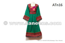 Asian Ladies Wedding Gown Beautiful Tribal Art Work Sea Green Color Dress