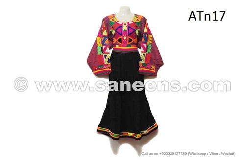 afghan kuchi black dress with embroidery work