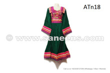 Buy Afghan Fashion New Costume Homemade Tribal Nomad Green Color Gown