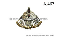Afghan Pendant Gypsy Fusion Tika Cairo Bellydance Handmade Forehead Jewellery